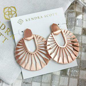 Kendra Scott Didi Sunburst Earrings Rose Gold